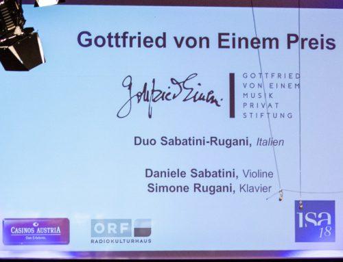 Gottfried von Einem Preis isa 2018 / August 18