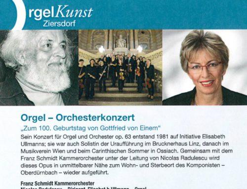 100. Geburtstag Gottfried von Einem / Orgelkunst Ziersdorf September 18