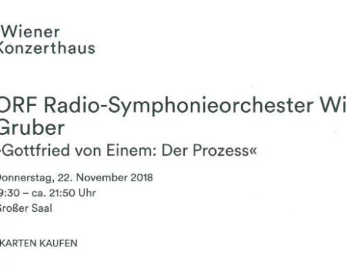 100. Geburtstag Gottfried von Einem / Der Prozess Wiener Konzerthaus November 18