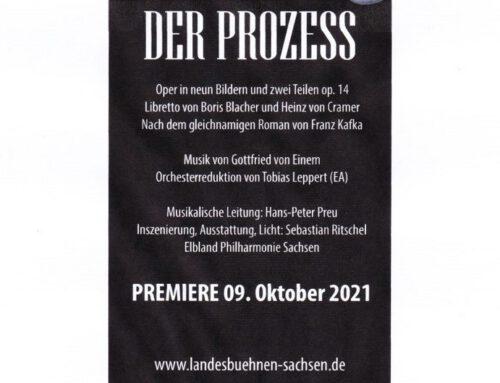 """""""Der Prozess"""" an den Landesbühnen Sachsen / Oktober November 21"""